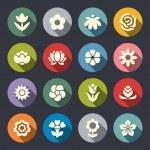 Flower icon set — Stock Vector #46051513