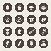 Cooking icon set — Stock Vector