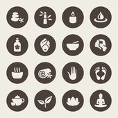 Spa icon set — Stock Vector
