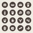 Fast food icon set — Stock Vector #47800931