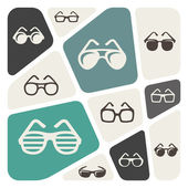 Glasses icon background — Stock Vector