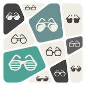Glasses icon background — Vector de stock