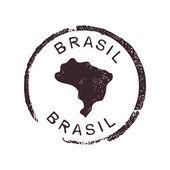 Brasil stamp — Stock Vector