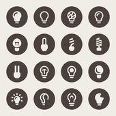 Light bulb icon set — Stock Vector