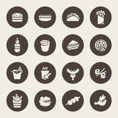 Fast food icon set — Stock Vector