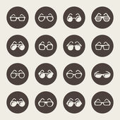 Glasses icon set — Stock Vector