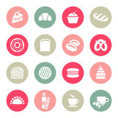 Bakery icon set — Stock Vector