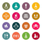 Chemical icon set — Stock Vector