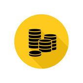 Coins icon — Stock Vector
