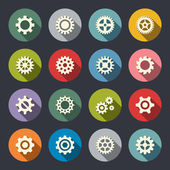 Gear icon set — Stock Vector