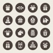 Gift icons — Stock Vector #51283569