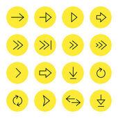 стрелки иконки — Cтоковый вектор