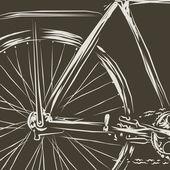 Vintage bicycle — Stockvector