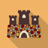 Spain castle — Stock Vector