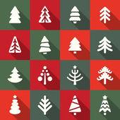 árboles de navidad — Vector de stock
