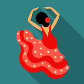 Flamenco dancer — Stock Vector