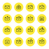 E-mail pictogrammen — Stockvector