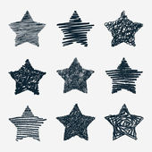 Hand drawn stars — Stockvektor