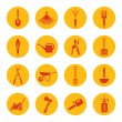 Gardening tools icons — Stock Vector #51423061
