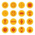 ícones de relógios — Vetor de Stock  #51423157
