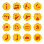 Luchthaven diensten pictogrammen — Stockvector