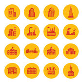 значки зданий — Cтоковый вектор