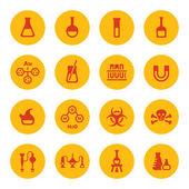 химическая иконки — Cтоковый вектор