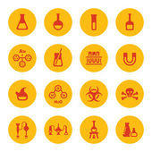 Chemical icons — Stock vektor