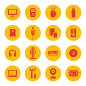 Computer devices icons — Stock Vector