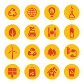 Iconos de eco — Vector de stock