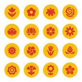 ícones de flores — Vetorial Stock