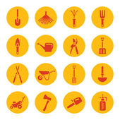 Gardening tools icons — Stock Vector