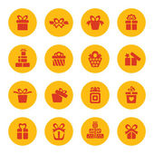 Gifts icons — Stock Vector