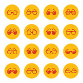 Glasses icons — Stock Vector