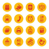 Hotel services icons — Stock Vector