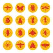 Insects icons — Stock Vector