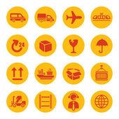 ícones de logística — Vetorial Stock