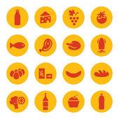 Mat ikoner — Stockvektor