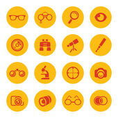 Optics icons — Stock Vector