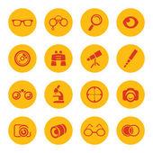 Optics icons — Stock Vector