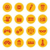 Entertainment icons — Stock Vector