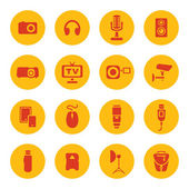Photo technic icons — Stock Vector