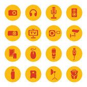 Photo technic icons — Stock Vector