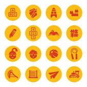 Kindergarten icons — Stock Vector