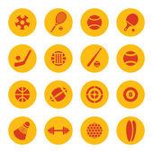 Iconos de deporte — Vector de stock