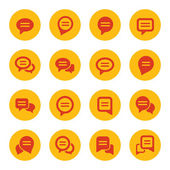Speech bubbles icons — Stock Vector