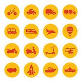 Vervoerpictogrammen — Stockvector