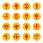 Iconos de los árboles — Vector de stock