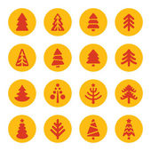 Fir trees icons — Stock Vector