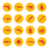 Weapons icons — Stock Vector